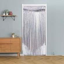 Декоративные серебряными шелковыми нитями Шторы блестящая кисточка