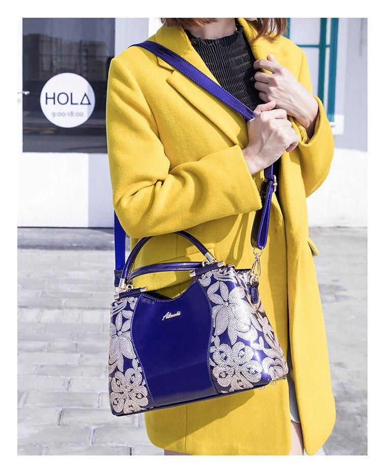 2019 luxo novas bolsas de couro patente
