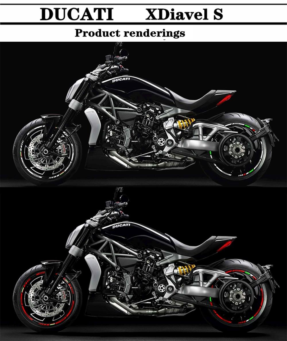 Aufkleber Rad Ducati Racing White /& Black