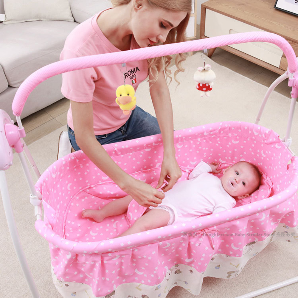 Baby Electric Swing For Newborns Bed Newborn Bed Smart Cradle Children s Rocking Chair Bed Full Baby Electric Swing For Newborns Bed  Newborn Bed Smart Cradle Children's Rocking Chair Bed Full Sets Cradle