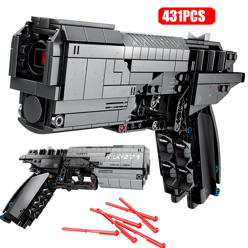 431pcs City Police Technic Pistol Gun Assembly Building Blocks For Legoing Military The Signal Gun Bricks Gifts Toys For Boys