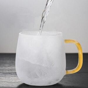 Image 3 - Borosilikat cam çay demlik kupa bardak şeffaf filtre kolu bambu kapak için yüksek sıcaklık dayanımı çiçek çay fincanı