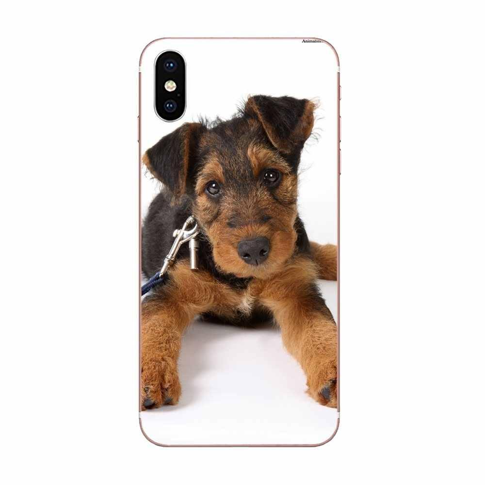Belle Airedale Terrier chien pour LG K50 Q6 Q7 Q8 Q60 X puissance 2 3 Nexus 5 5X V10 V20 V30 V40 Q stylet TPU téléphone portable