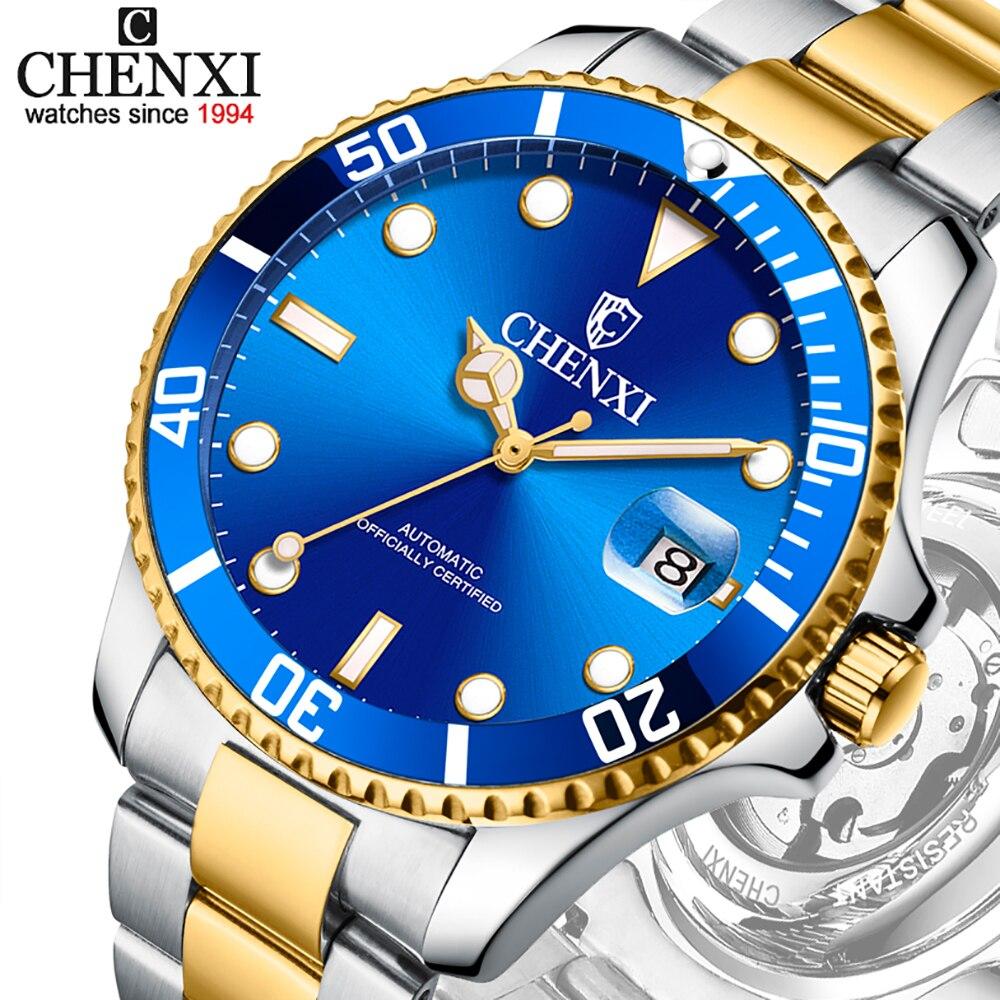 CHENXI Design Brand Luxury Men Watches Automatic Mechanical Watch Men's Transparent Mechanical Sport Male Business Wrist Watches