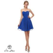 S.T.DES Evening Dress 2020 New Arrival A-line Sweatheart Blue Sleeveless Designer Short Party Dress Dinner Dress