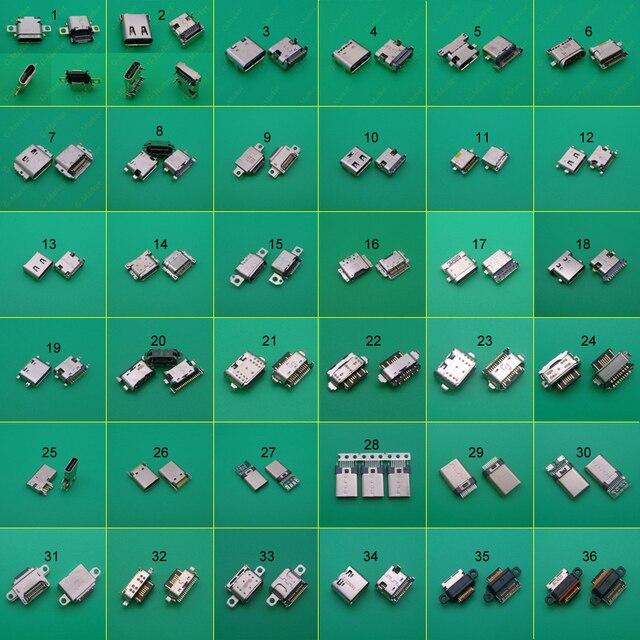 36 Mẫu 36PC Micro USB Kết Nối Loại C Nữ Sạc Dock Sạc Cắm Cổng Loại C Ổ Cắm Jack dành Cho Xiaomi 5 Redmi Huawei Honor