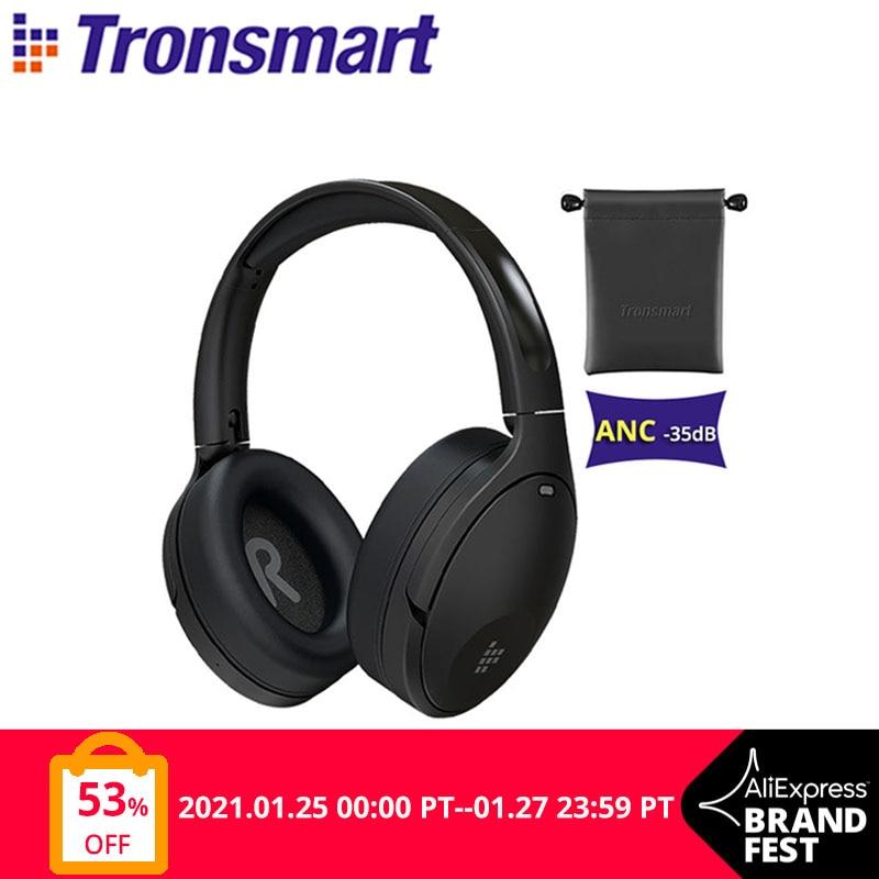 Tronsmart-auriculares inalámbricos Apollo Q10 con Bluetooth 5,0, dispositivo con cancelación activa de ruido y Control táctil por aplicación, with100-hour duración de reproducción