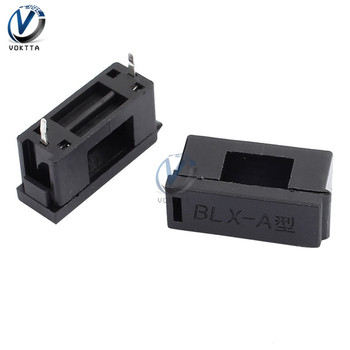 10Pcs/pack 5*20mm Mount BLX-A Type Fuse Holder 15A 125V Fuse Holder With Cover Chassis/Panel Mount S