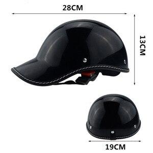 Image 5 - 1PC Motorcycle Half Face Vintage Summer Helmet Hat Cap Men Women Motorcross Moto Racing White/Black