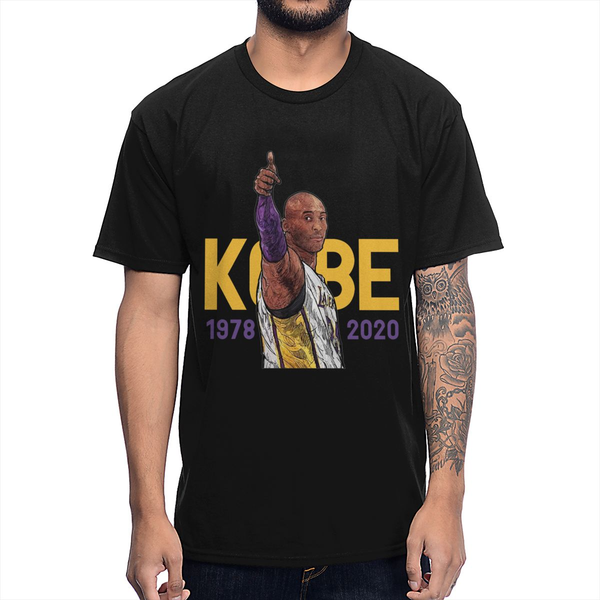 Rip Kobe Bryan T Shirt New Arrival O-neck Cotton T-shirt