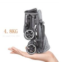 Babyyoya stroller Mini  Lightweight Portable Folding Baby carriage 2 in 1 Baby trolley Pocket stroller 4.8kg