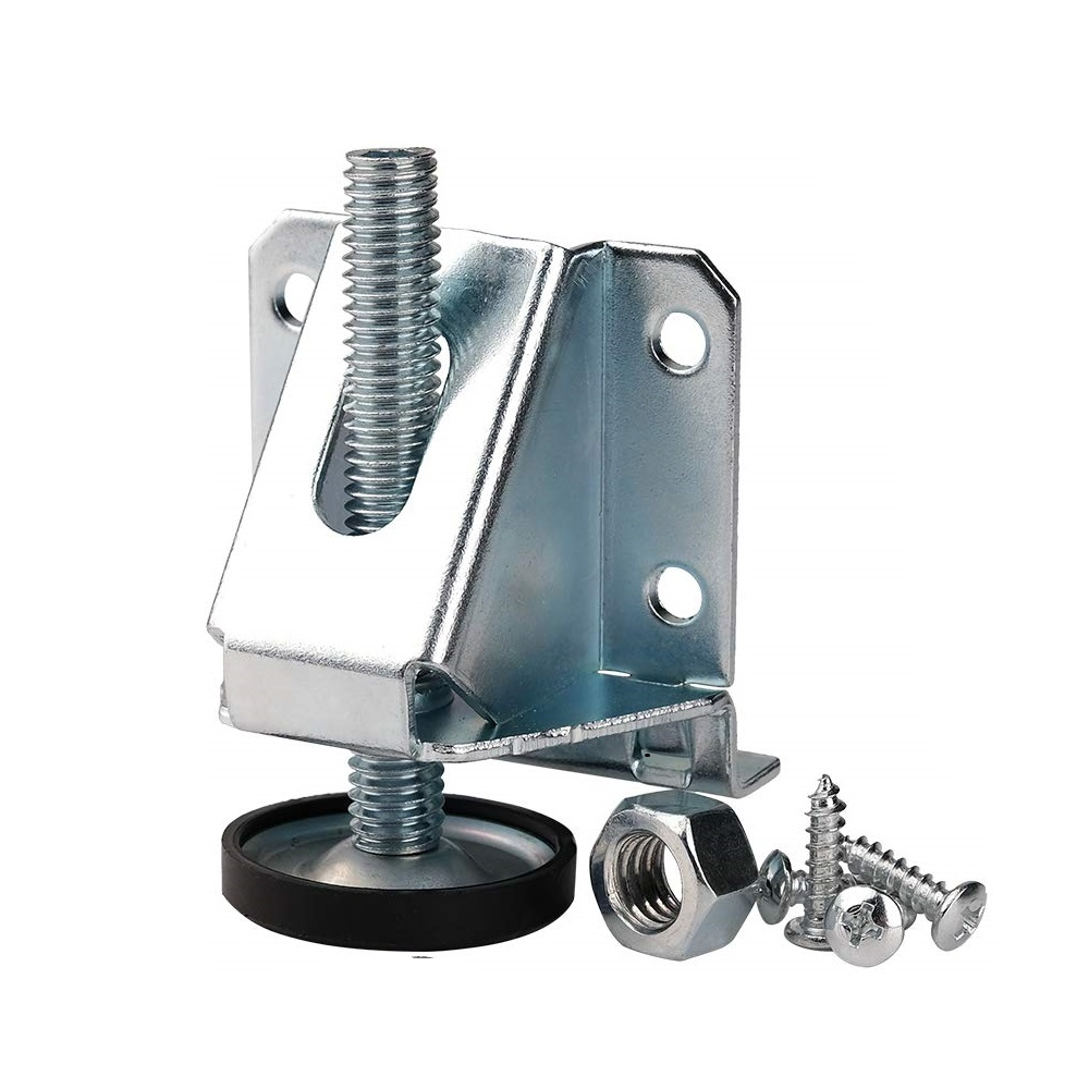 4PCS Adjustable Leveling Feet Heavy Duty Carbon Steel Ajuster Leveling Foot Lever Leg For Cabinet