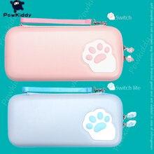 POWKIDDY חתול טופר עיצוב עמיד למים אחסון תיק עבור N מתג נייד EVA קשיח מגן מקרה אביזרי משחק