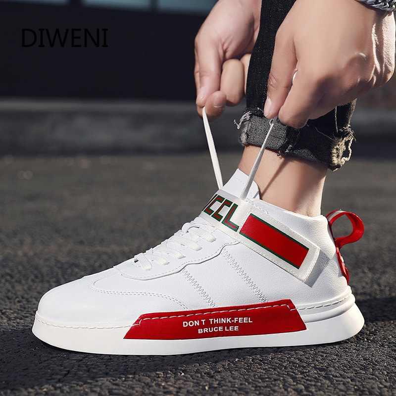 Diweini moda masculina sapatos de inverno dos homens sapatos casuais zapatos de hombre alta superior tênis masculinos sapatos planos ao ar livre esporte