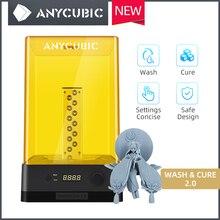 2020 nouvelle Machine de lavage et de traitement anycubique 2.0 modèle de lavage et de durcissement 2 en 1 traitement de résine UV pour imprimante 3d Impresora 3d