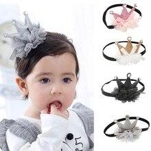 Красивая Милая Детская повязка на голову для девочек, детские Луки, корона, Детская лента для волос, аксессуары для волос, бандо, Bebe Fille, шапочка для детей