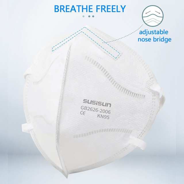 N95 Mask 20/50/100pcs 5 Layer Flu Anti Fog kN95 Protective Masks ffp2 Respirator PM2.5 Safety dust-proof breathable anti-fog 1