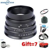 Brightin star 35mmF1.7 lens large aperture lens For sony A6300 a6000 Canon EOS M fuji FX XA3 XA5 XT3 M4/3 M50,M100