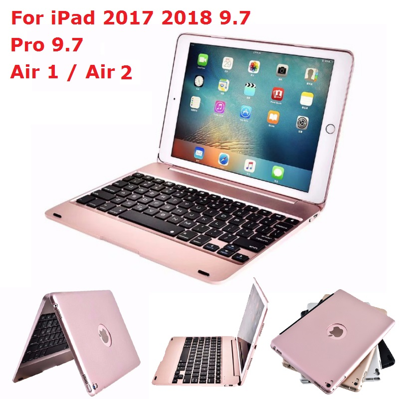 ABS Keyboard Tablet Coque for <font><b>iPad</b></font> <font><b>2017</b></font> 2018 Air 1 Air 2 <font><b>Pro</b></font> <font><b>9.7</b></font> Case With Keyboard Bluetooth for <font><b>iPad</b></font> 2018 <font><b>9.7</b></font> Keyboard Cover image