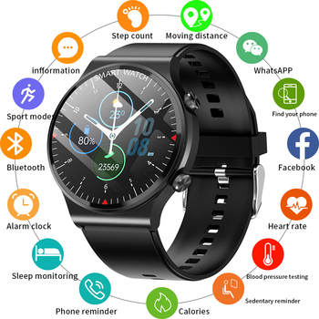 Inteligentny zegarek mężczyźni tętno przypomnienie informacji sportu wodoodporna inteligentny zegarek zegarek dla Android IOS telefon reloj inteligente hombre tanie i dobre opinie CRRJU CN (pochodzenie) Z systemem Android Wear Autorski system operacyjny Dla systemu iOS Na nadgarstek Zgodna ze wszystkimi
