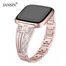 Watch-Band Bracelets Metal Se/versa-2 Strap Stainless-Steel for Diamond Woman Woman