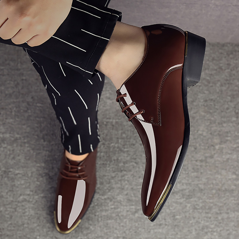 Men Shoes Leather Lace Up Plus Size 44-47 Spring/Summer Design Moccasins Men Soft Pointed Toe Casual Loafer Shoes Male 2020
