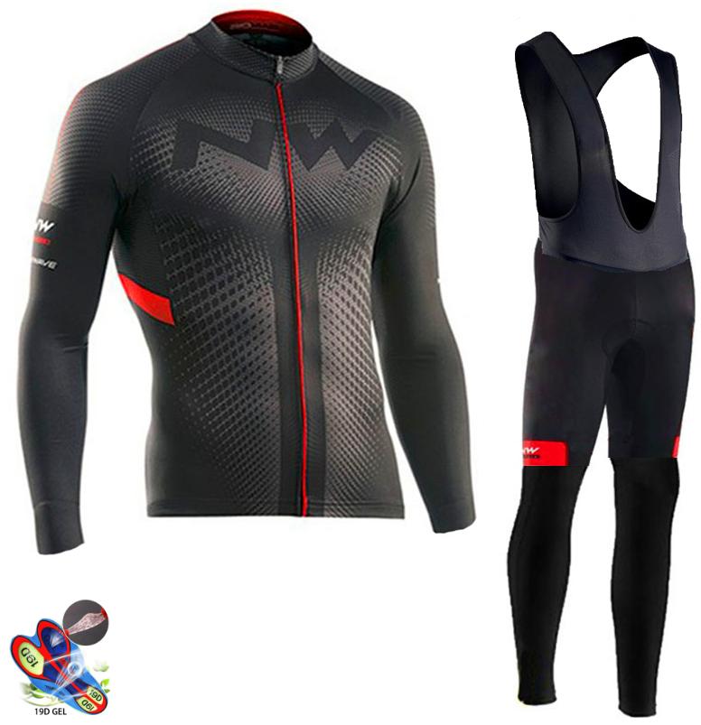 NW Pro cyclisme Maillot ensemble à manches longues respirant vtt vélo vêtements vêtements vélo cyclisme vêtements Ropa Maillot Ciclismo