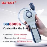 Оригинальный GM8800A портативный детектор утечки горючих газов Метан Пропан Газовый тестер Измеритель сигнализации СПГ LPG детектор