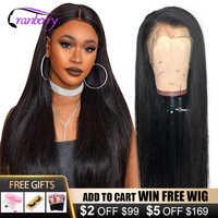 Cranberry-peluca con malla frontal 4x4 para mujer, postizo de pelo liso brasileño con cierre de encaje, pelucas de cabello humano Remy pre-arrancado