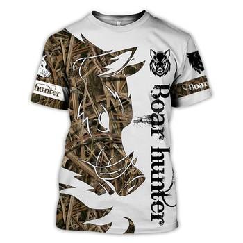 Tessffel Animal Bow Deer Hunter Hunting Camo New Fashion Harajuku Unisex 3DPrint Summer Short Sleeve Streetwear T-shirts A-4 2