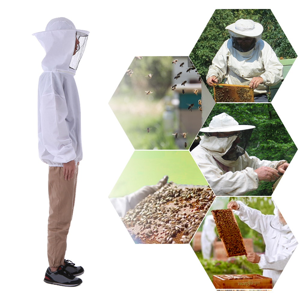 Beekeeping White Bee Hat and Veils Beekeeper One fit New Useful Tools