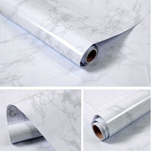 Waterproof Imitation Marble Pattern Sticker Wall Kitchen Greaseproof Self-Adhesive Pvc Wallpaper Cabinet Desktop Home Decoration(China)