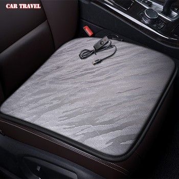 CAR TRAVEL 12V Heated car seat cover for Ford all models kuga fiesta mondeo fusion focus ranger Everest Taurus Ecosport Winter image
