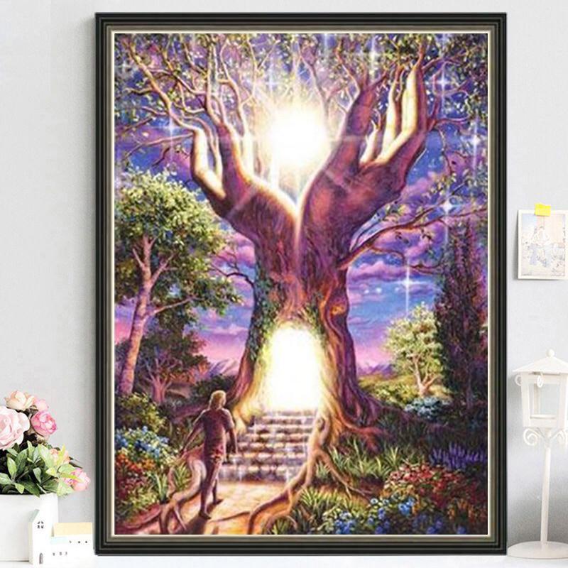 5D DIY Full Square Round Diamond Painting Cross Stitch Tree of Life Embroidery Rhinestone Mosaic Art Handmade Home Decoration