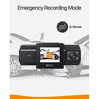 Anker Roav DashCam Duo, Dual FHD 1080p Dash Cam, Wide Angle Cameras, Supercapacitor, IR Night Vision, Dual Sony Sensors, GPS 1