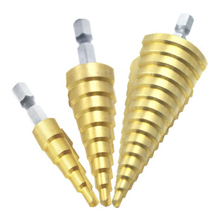 Image 4 - Uniwersalny 3 sztuka zestaw narzędzia do naprawy samochodu wiertło stopniowe wycinak otworów 4 12/20/32mm dla zestaw wiertła stożkowe do karoserii narzędzie