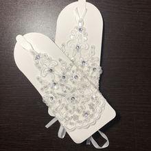 Акция нового магазина! Перчатки Свадебные цвета слоновой кости