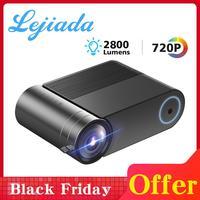 LEJIADA YG550 native projector 1280x720 mini LED 720P Portable YG551 WiFi Multi screen video projector 3D VGA HDMI Proyector