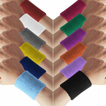 Towel-Band Wrist-Wrap Absorbed-Sleeve Bracers Sweat Cotton Cloth Tennis-Yoga-Arm Terry