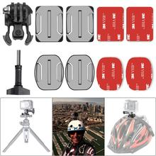 10in1 Action Camera Helmet Side Mount Kit Adhesive Mount for Dji Osmo Action GoPro Hero Sony SJCAM SJ4000 SJ5000 360 degree swivel gopro helmet side mount clip holder for gopro sjcam sj4000 xiaomi yi for sony aee action pov cameras