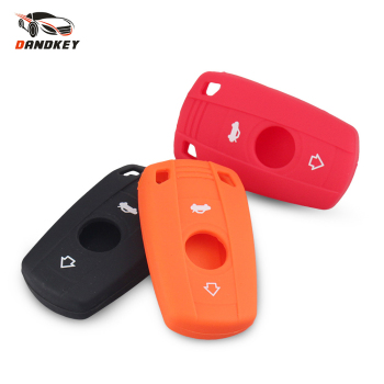 Dandkey 3 Buttons Silicone Car Key Case For BMW 1 3 5 6 Series E90 E91 E92 E60 Remote Key Shell Case Smart Key Fob Cover image