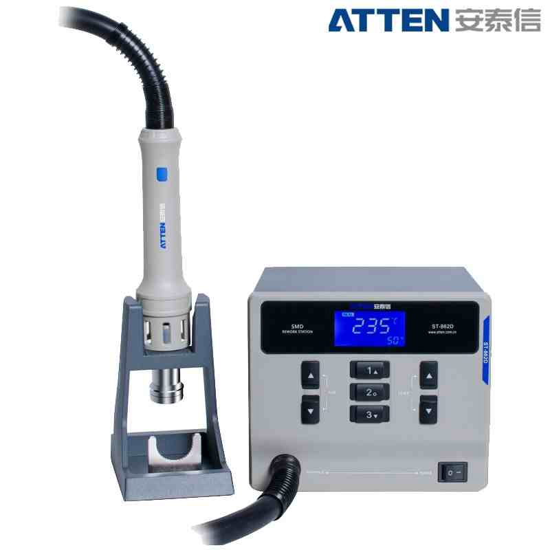 ATTEN ST-862D Lead-free Hot Air Gun Soldering Station Intelligent Digital Display 1000W Rework Station For PCB Chip Repair