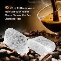 18 adet cezve makinesi su filtresi dokuma bambu kömür aktif karbon filtre için Cuisinart kahve makinesi
