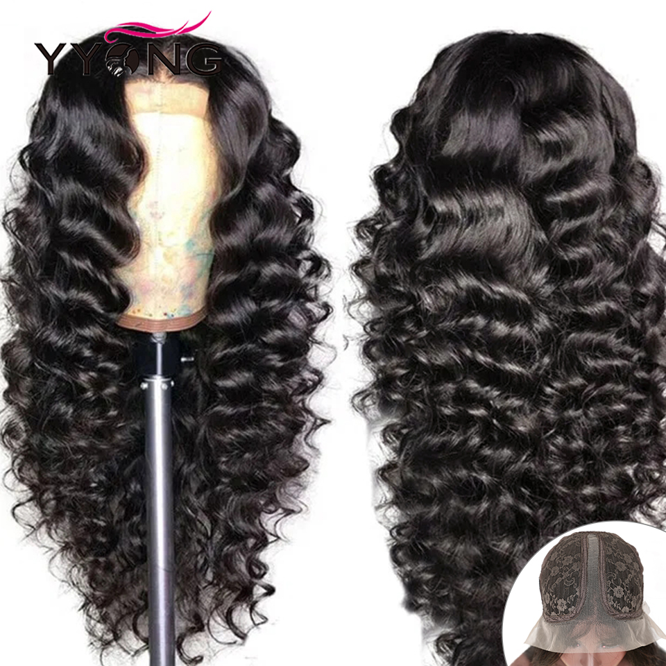 YYong 13X6x1&1x4 Part Lace Wig   Loose Deep HD Transparent Part Lace  Wigs 30 32in Long Wig Preplucked 1