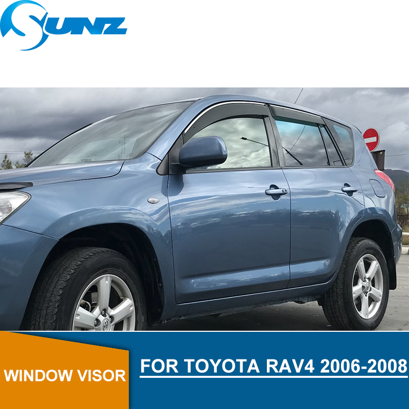 Window Visor For TOYOTA RAV4 2006 2008 side window deflectors rain guards for TOYOTA RAV4 2006 2008 SUNZ|Awnings & Shelters| |  - title=