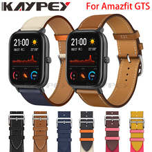 Fashion Genuine Leather Watch Band Strap for Xiaomi Huami Amazfit GTS 2 / Mini Bip Lite S U Leather Sporty Wrist band strap
