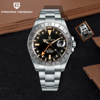 2021 New PAGANI DESIGN Men Automatic Mechanical Watch Classic Retro GMT Watch Stainless Steel 200m Waterproof Clock Reloj Hombre 1