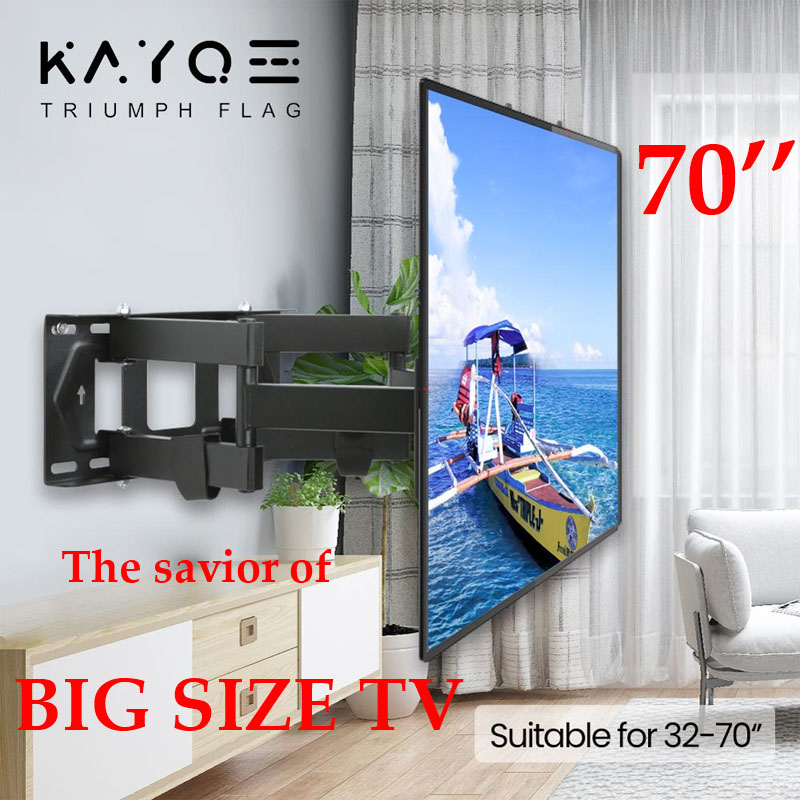 The savior of large TV 6 Arms 32''-70'' Retractable TV Mount KAYQEE MAX VESA 400x400mm LCD Bracket Wall Stand