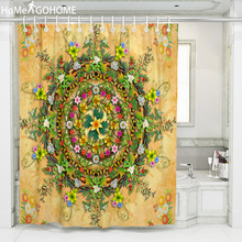 Bohemian Flowers 3D Colorful Shower Curtains Mandala Bathroom Curtain Waterproof Fabric Bath Curtain Customizable tenda doccia flowers blossom waterproof bath curtain
