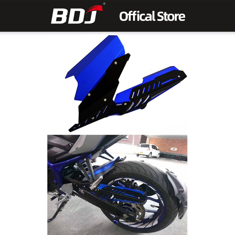 BDJ Motorcycle CNC Rear Tire Hugger <font><b>Fender</b></font> Mudguard & Chain Guard Cover For <font><b>YAMAHA</b></font> MT-25 MT-03 YZF-R25 R3 YZF R3 R25 <font><b>MT03</b></font> image